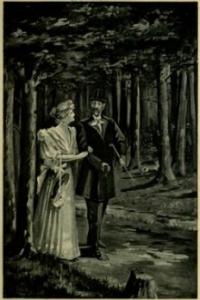 Menuet coppia in parco