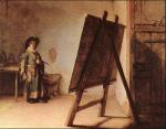 Rembrandt nello studio